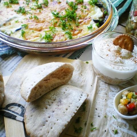 ギリシア料理を堪能♡ムサカ&彩りサラダ