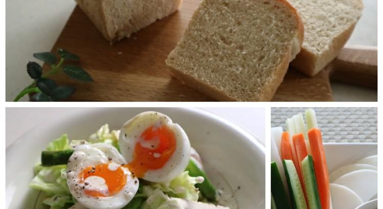 遊結花 一番人気の白神黒糖食パンと簡単美味しい野菜たっぷりメニュー2品