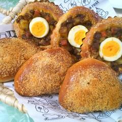 ヘルシーで美味しい、焼きカレーパンを作りましょう