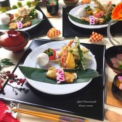 春のおもてなしコースレッスン 春野菜の天ぷらなど全7品