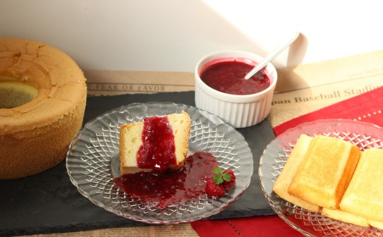 バニラシフォンケーキとはちみつフィナンシェ 焼菓子2種作りましょう:)