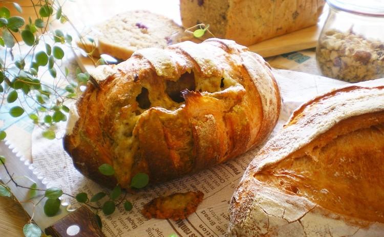 トマトジュース酵母で2種のパン&紅茶酵母のバナナブレッド