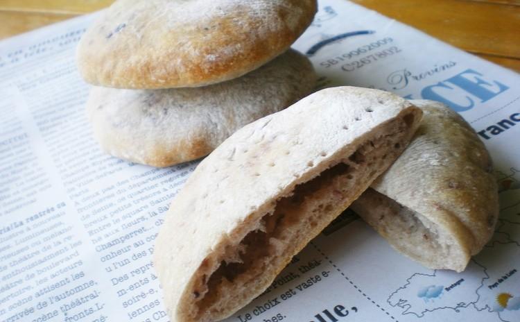 自家製酵母*ピタパン(ストレート法)
