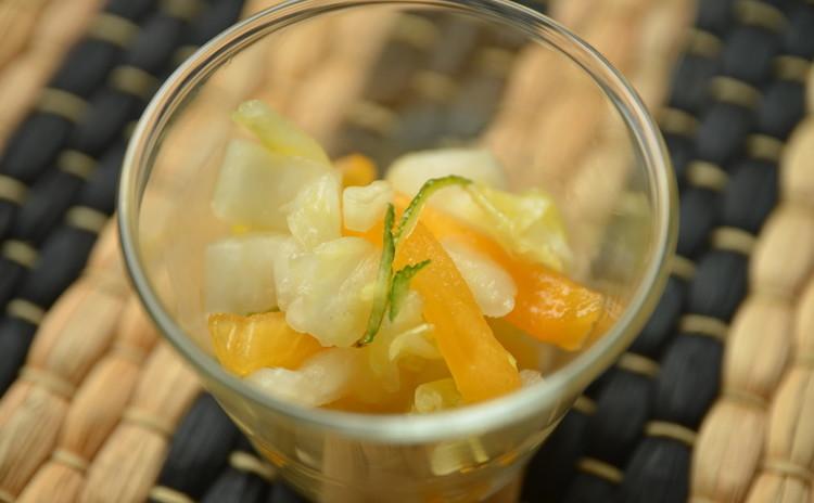 ~箸休めに~爽やかな白菜と柑橘類の和物