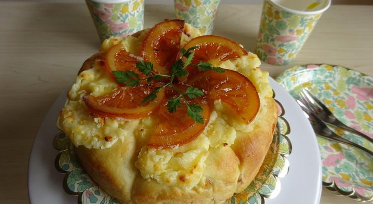 オレンジピールとクリームチーズのフロマージュ