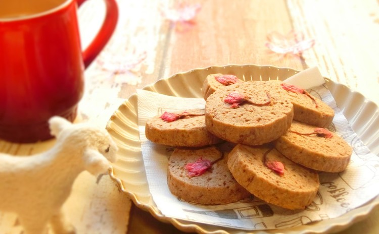 あずきクッキー 桜の香り