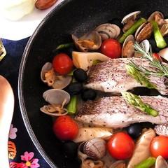 旬の食材たっぷり!春のアクアパッツァやニンジンのリボンサラダ全4品