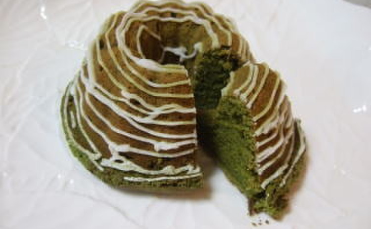 抹茶のシフォン
