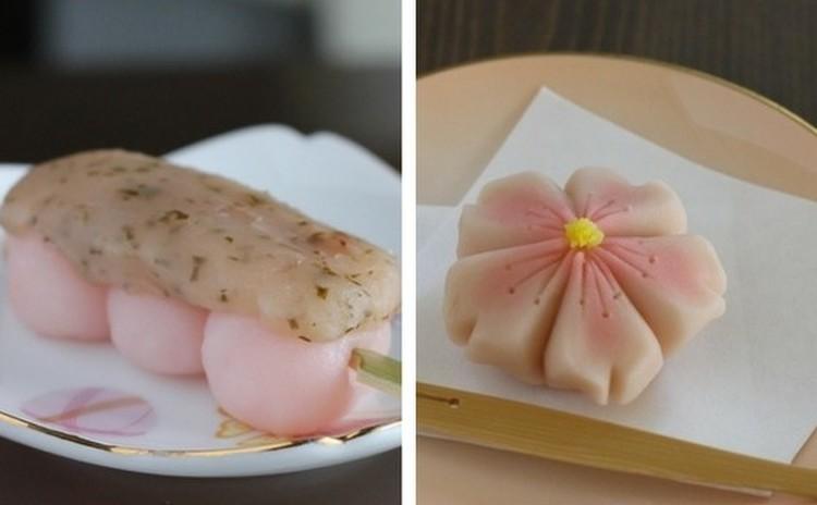 ピンク♬「桜餡だんご」と練切り「さくら」