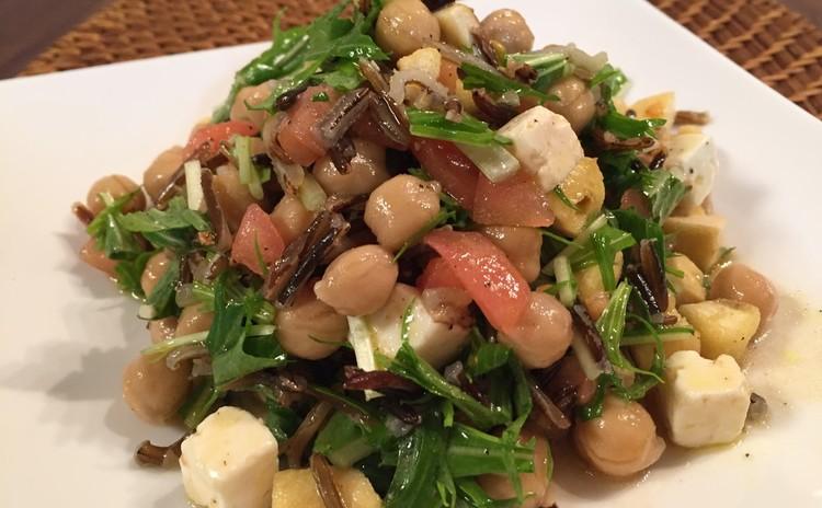 ひよこ豆とワイルドライスのサラダ
