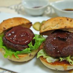 【燻製実習!】オリーブオイルとチーズ【燻製デモ】ミニハンバーガー2種