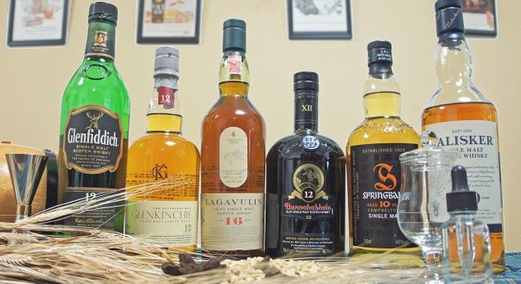 シングルモルトスコッチウイスキー6種類の飲み比べ