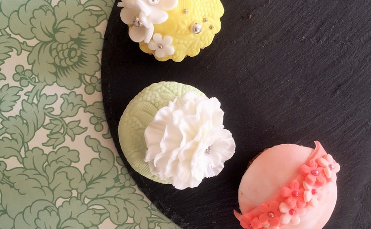 マシュマロフォンダントカップケーキ