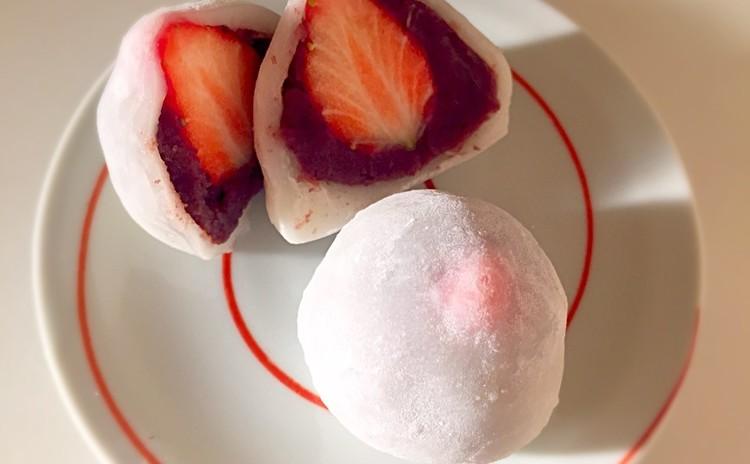 和菓子!いちご大福&栗のおしるこ