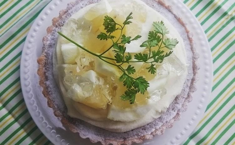 ジャスミン香る、ホワイトチョコと日向夏のタルトレッスン☆