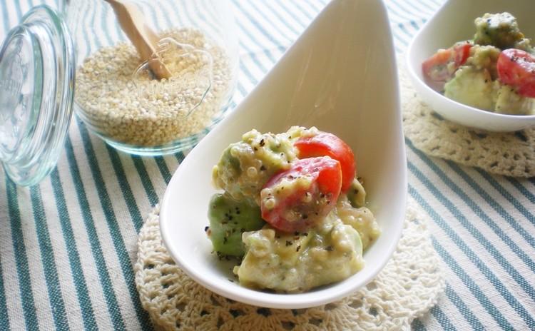 キヌア&アボカドのトロピカルサラダ