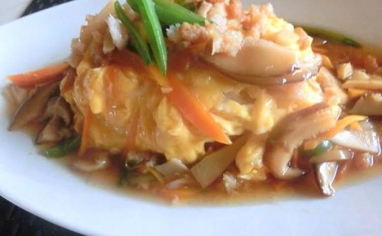 ☆とろとろ海鮮天津飯〜卵とカニ・干し海老・たけのこ具沢山の贅沢な一品!