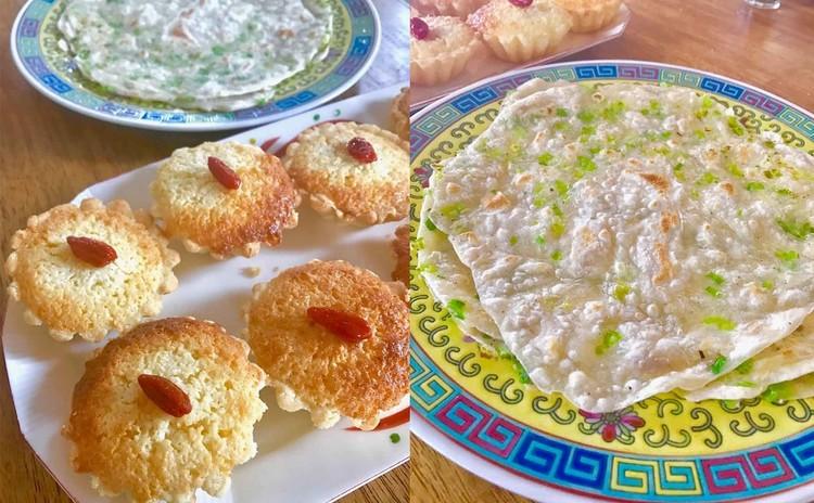 ココナッツタルト&葱油餅を作りましょう♪