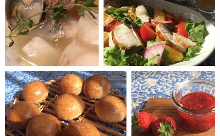 ブリオッシュ~ブルターニュ地方コトリアード&チキンとオレンジのサラダ~