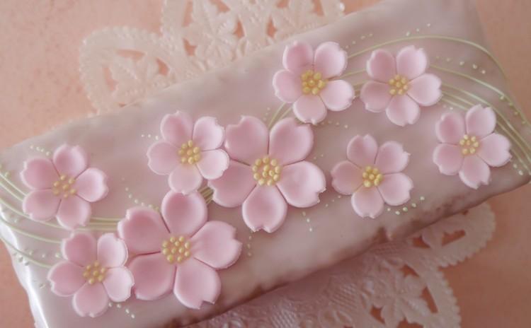 桜のケーキデコレーション