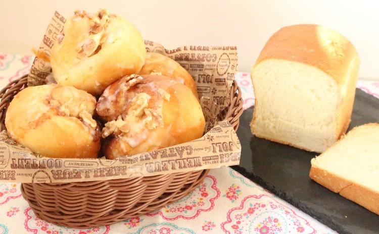 お家でパンを焼こう:)食べきり食パンとシナモンロール