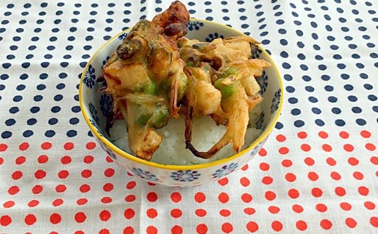 サクサクの野菜たっぷりかき揚げ丼