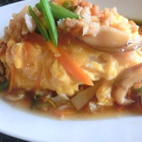 餃子コースの天津飯