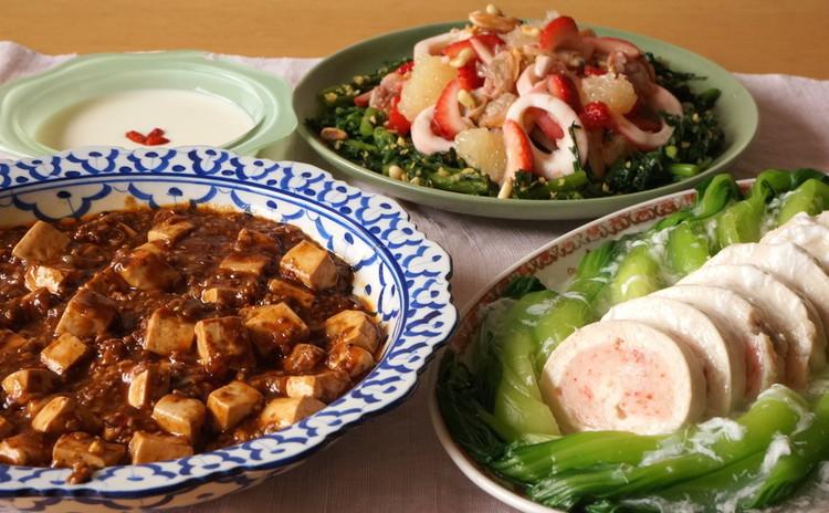 シビれる辛さの花椒が癖になる本格麻婆豆腐&おもてなしにもきれいな蒸し物