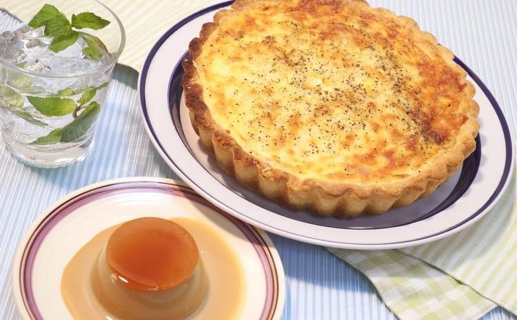 フランスの美味しさ再現♪キッシュ・ア・ラ・ロレーヌ&紅茶のプディング