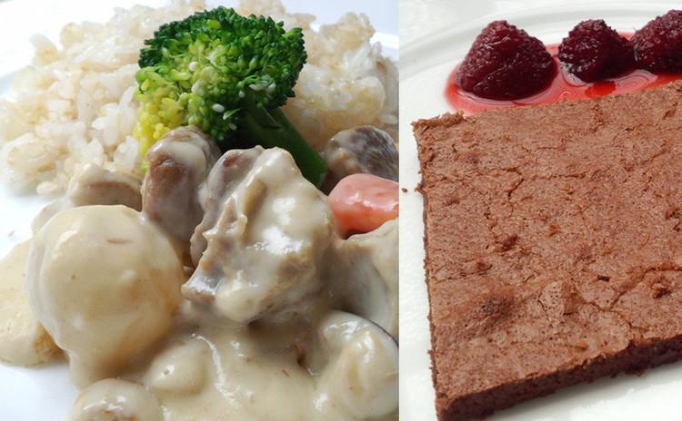 フランスの伝統料理を学ぶ!ブランケット(クリーム煮)とチョコフォンダン