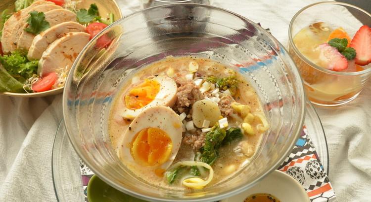 ★お家で完全無添加ラーメン★スープベースから作る本格味噌ラーメン