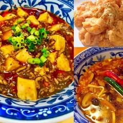 手作り調味料と麻婆豆腐、サンラータン、エビマヨ