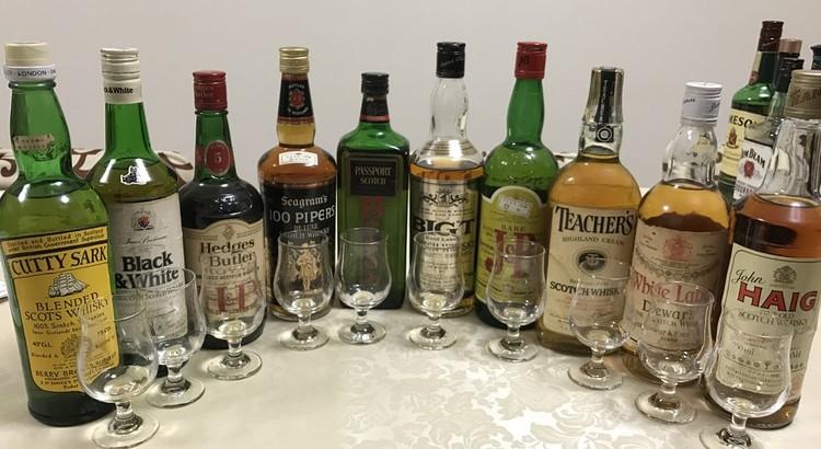 オールド・ブレンデッドスコッチウイスキー飲み比べ