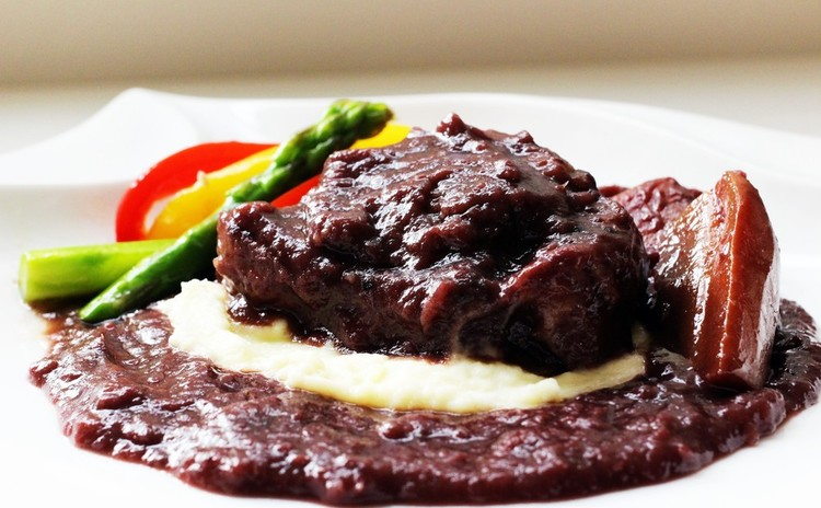 牛テールの赤ワイン煮込み・グレープフルーツのケーキ他✿お土産付