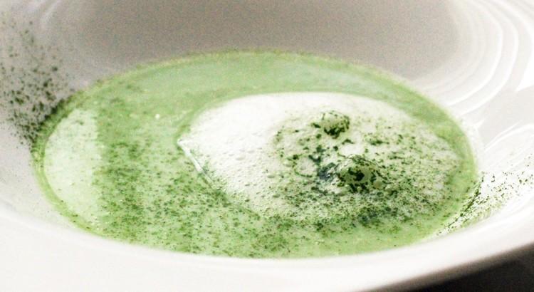 春のお豆たちのスープ カプチーノ仕立て新緑の香り