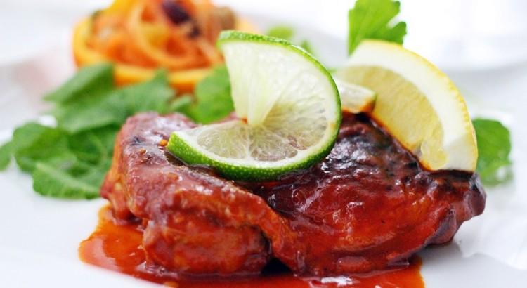 国産鶏のブレゼ レモンライムソース~ジンの香り