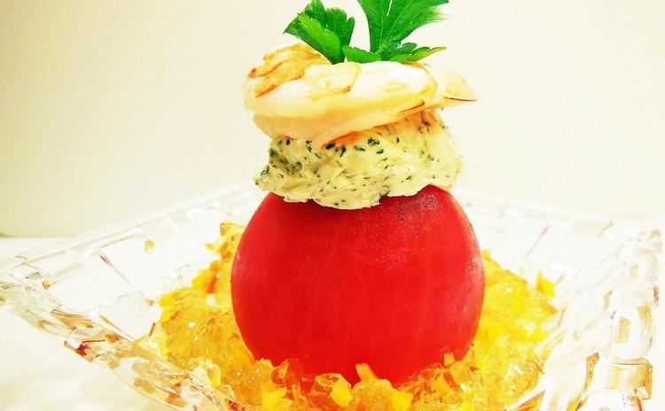 トマトのキラキラコンソメ漬け