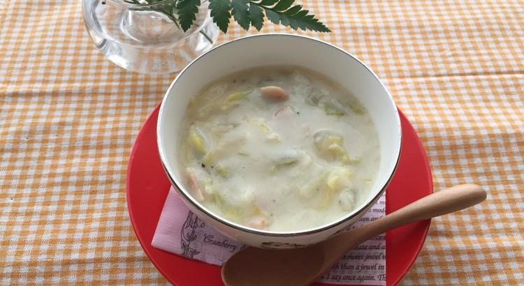 春キャベツたっぷりのチャウダースープ