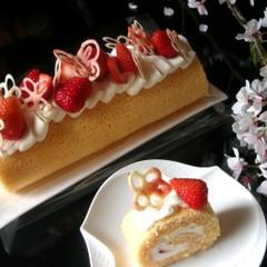 【こども】母の日ケーキ教室☆いちごのロールケーキ