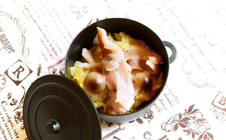 春キャベツと豚バラの蒸し物