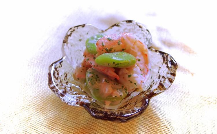 海老と空豆のアチャラ風和え物