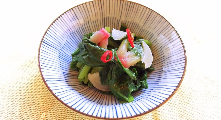 青菜のぺペロン蒸し