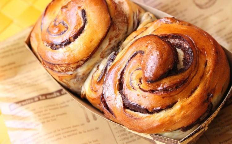 渦巻きかわいいチョコマーブルパン
