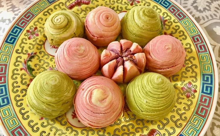 野菜パウダー入りのパイ&トウチ蒸し