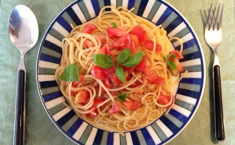 【夏メニュー!】梅とトマトの冷製パスタ&手作りフォカッチャ