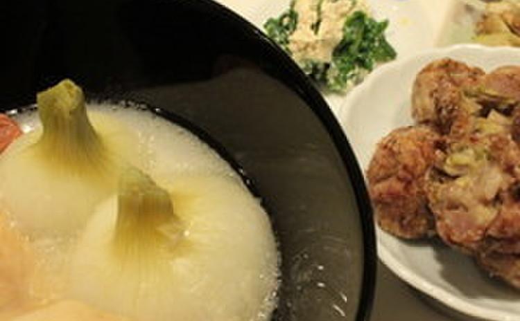 リクエスト開催  ふきのとう肉団子揚げ、新玉葱の丸煮、春野菜