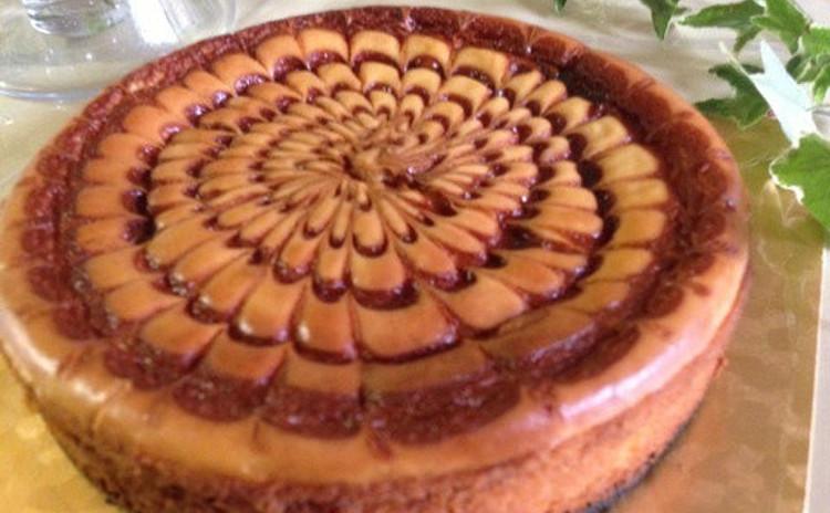 ひと手間でちょっとおしゃれなキャラメルチーズケーキ