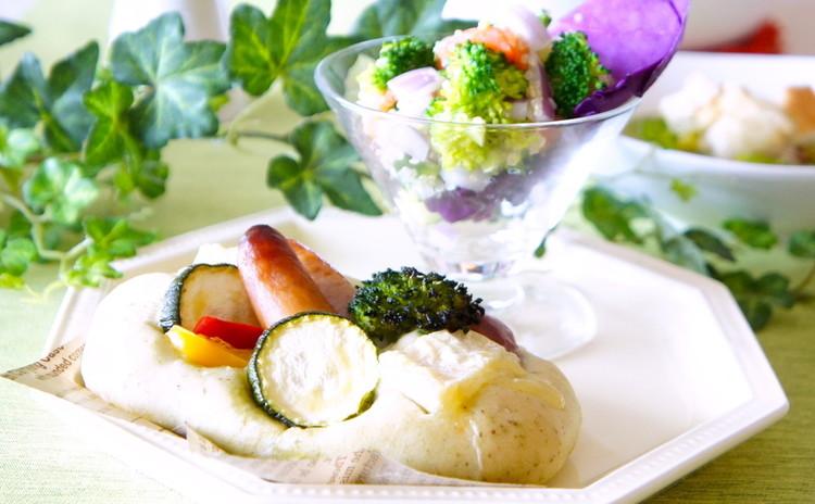 季節の野菜でデリご飯*『夏野菜のフォカッチャ』&『ナッツスティクパイ』