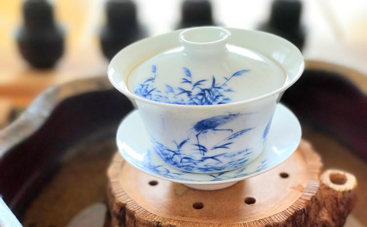 食後、季節の中国茶席