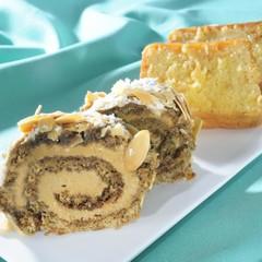 旨ッ♡バタークリームって!コーヒーのロールケーキ&レモンパウンドケーキ